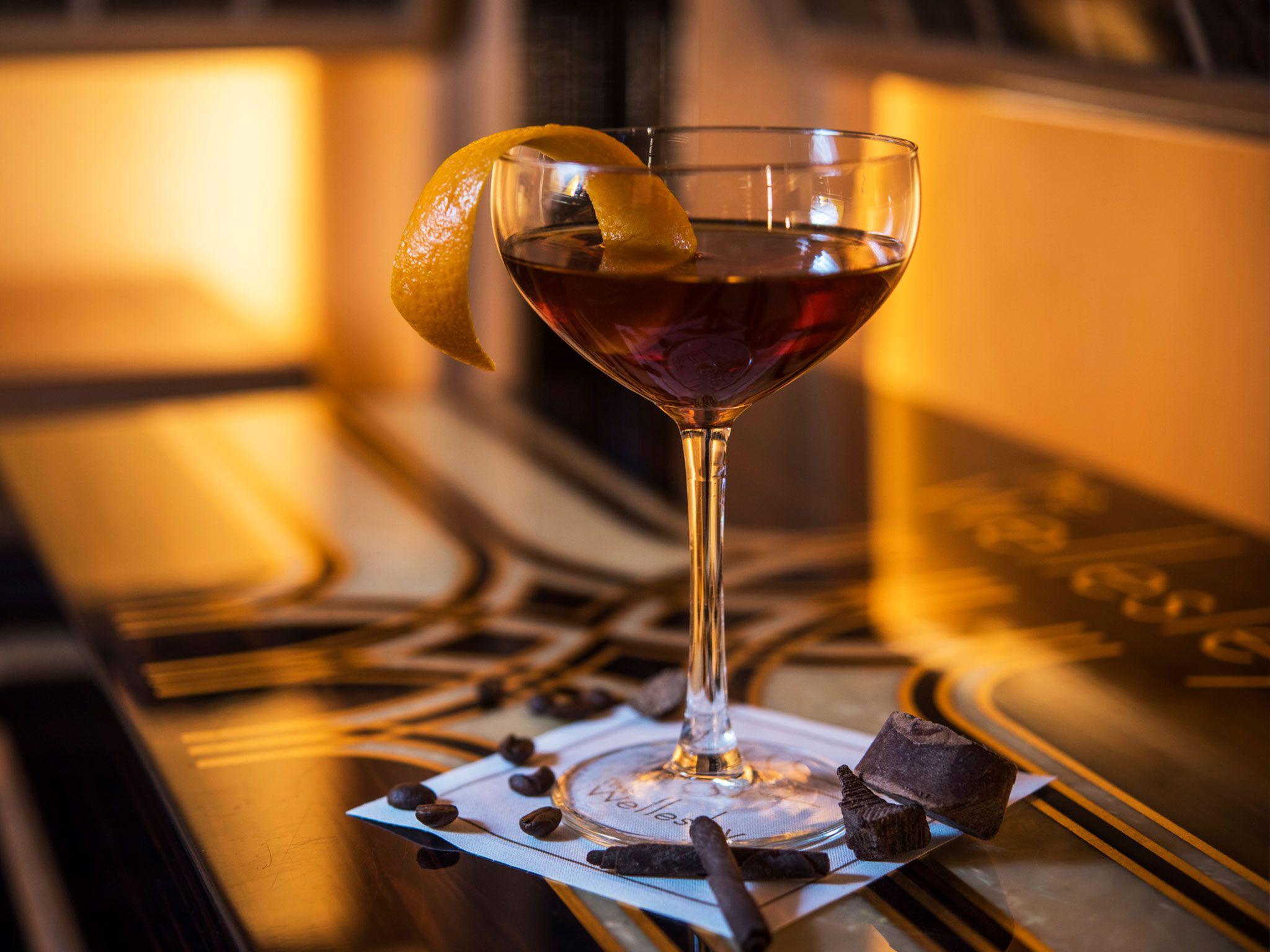 Smoky Manhattan at Crystal Bar